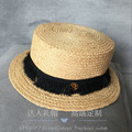 Pure natural double gold M standard lafite short grass along the straw hat topi female hat! Tasseled more delicate!