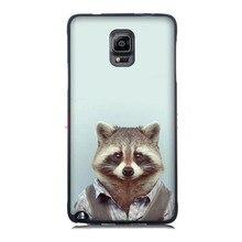 Fashion Man Shape Animal Funny 2016!Fashion Skin UV Black Bag Case For Samsung Note 4