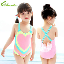 Anak-anak Pakaian Renang Gadis One Piece Jantung Dicetak Bikini 2018 Anak-anak Pakaian Renang untuk Anak Perempuan Bayi Baju Renang Gadis Backless Bikini