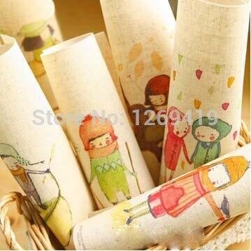 10 unids/lote 20 * 20 cm teñidos a mano de algodón tela de lino - Romantic inoce