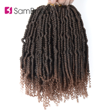 SAMBRAID Spring Twist Hair Crochet Braid Faux Locs Synthetic Passion twist Braiding Extensions