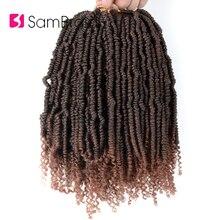 Лучший!  SAMBRAID Наращивание волос из синтетической вязаной пряжи для плетеных волос для косичек Лучший!