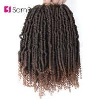 SAMBRAID Spring Twist cabello Crochet trenza Faux Locs Crochet cabello sintético Passion cabello torzado trenzado extensiones