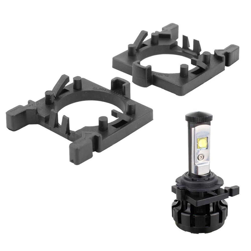 2Pcs H7 LED Headlight Bulb Holder Adapter Headlamp Light Lamp Base For Ford Focus For Fiesta For Mondeo (Low Beam)