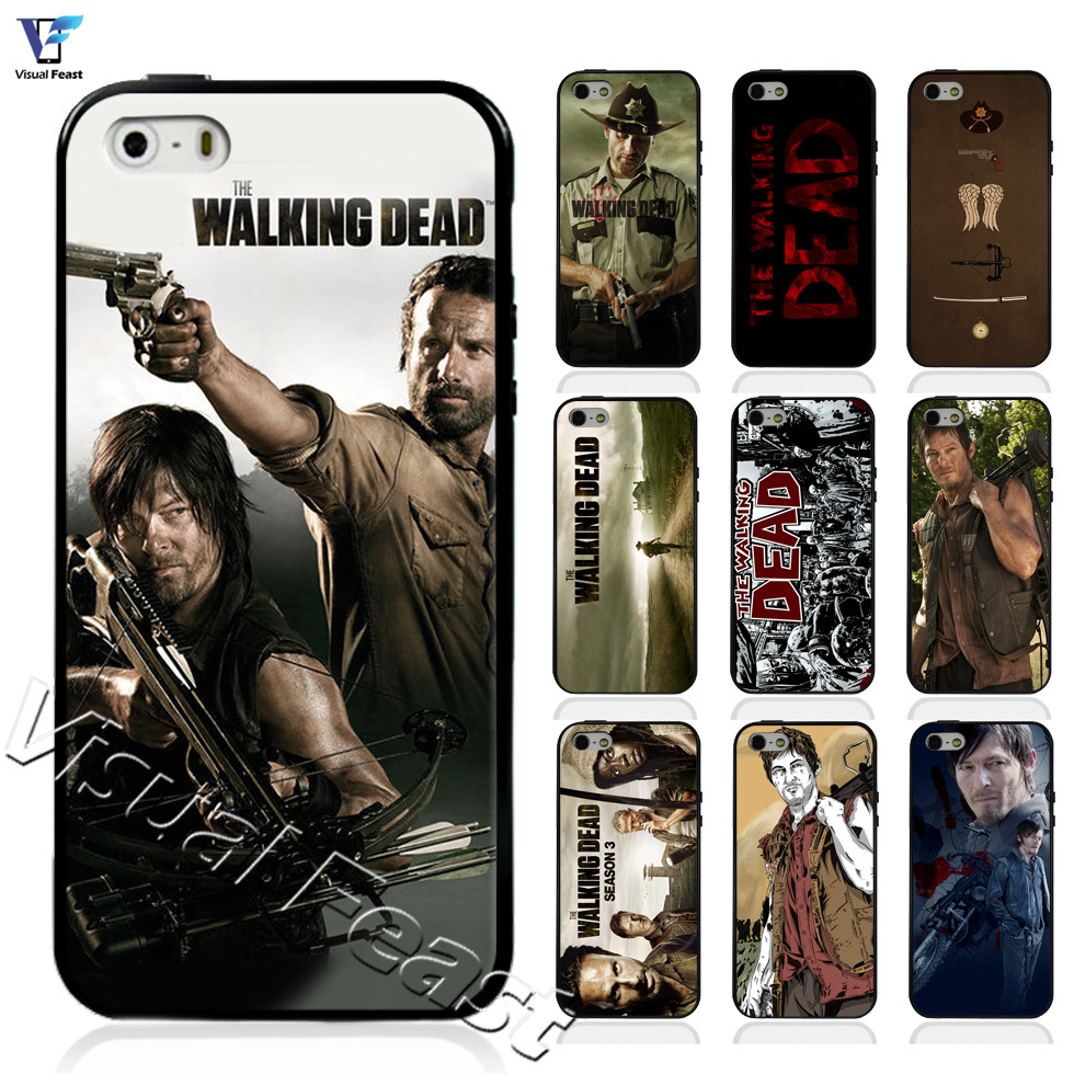 The walking dead rick daryl movie Case For iphone 5 5s Case for iphone 4 4s Cover Soft TPU Hard PC Hybrid With Free Gift