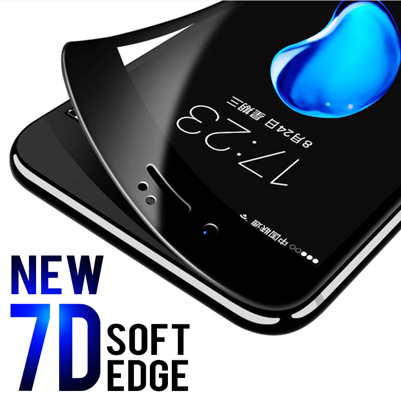 Image 5 - 7D Full Cover Curved Soft Edge Tempered Glass For iPhone 6 6S 7 8 Plus X Screen Protector For iPhone 8 7 6 6S X XS Cover Glass-in Phone Screen Protectors from Cellphones & Telecommunications