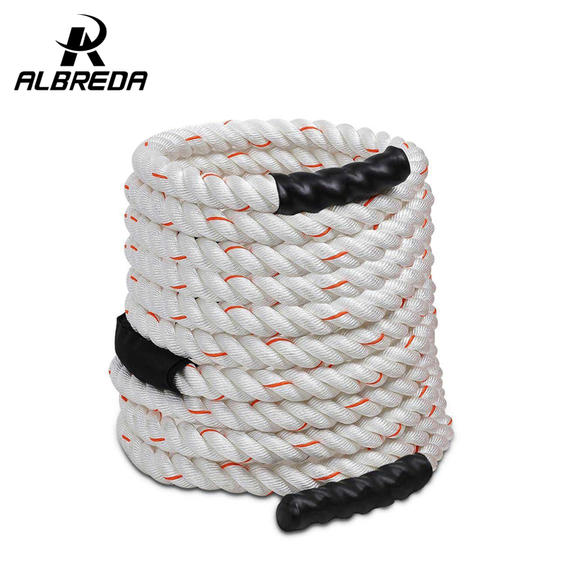 1.5'' * 40'Poly Dacron Power Training Rope Battle Ropes Gym Workout Training Rope fitness training 40ft sports exercise 12m*38mm metal bearing steel cable wire high skip adjustable jump rope exercise gym fitness 3m