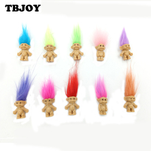 5pcs/lot 10 Colors Lovely Hair Toys Family Members Daddy Mummy Baby Kid Action Figure Toys Birthday Game Gift Toys For Children