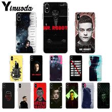 Yinuoda Mr Robot Rami Said Malek Colorful Phone Accessories Case for Apple iPhone 7 6 6S 8  Plus X XS MAX 5 5S SE XR Cellphones