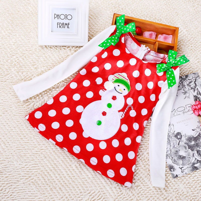 HTB1H53pwlsmBKNjSZFsq6yXSVXaQ New Year Baby Girl Christmas Dress Girl's Merry Christmas Dress Children Kids Cotton Dot Dress Girls Tutu Santa Clus Costume