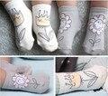 2016 Baby Socks Cotton Scrawl Flower Children's Socks Boy Girl Toddler Anti-slip short Socks 0-2/2-4years