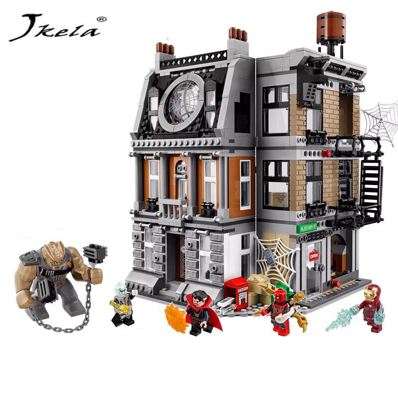 [Jkela] Super Heroes marvelly avengerly DR strange sanctorum Building Block Bricks compatible legopinly76108 Kid Infinityly wars