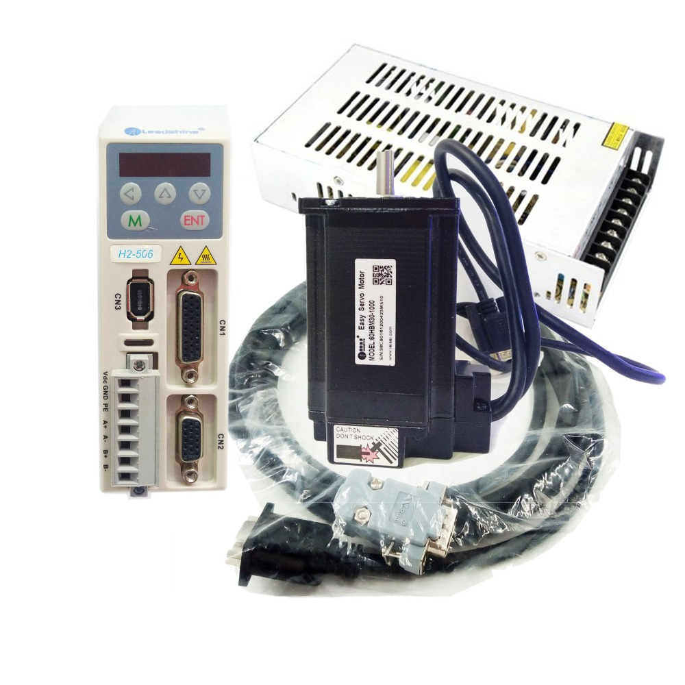 Nema24 60mm 5A 3Nm 2PH Hybrid Servo Motor Closed-loop Stepper Drive kit & 36V DC Power with 3M Encoder Cable ES-D808+ES-M22430 endress ese 1006 sdbs dc es