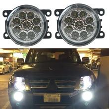 Car styling 6000K 12V DRL Fog font b Lamps b font Lighting LED Lights 9W 1