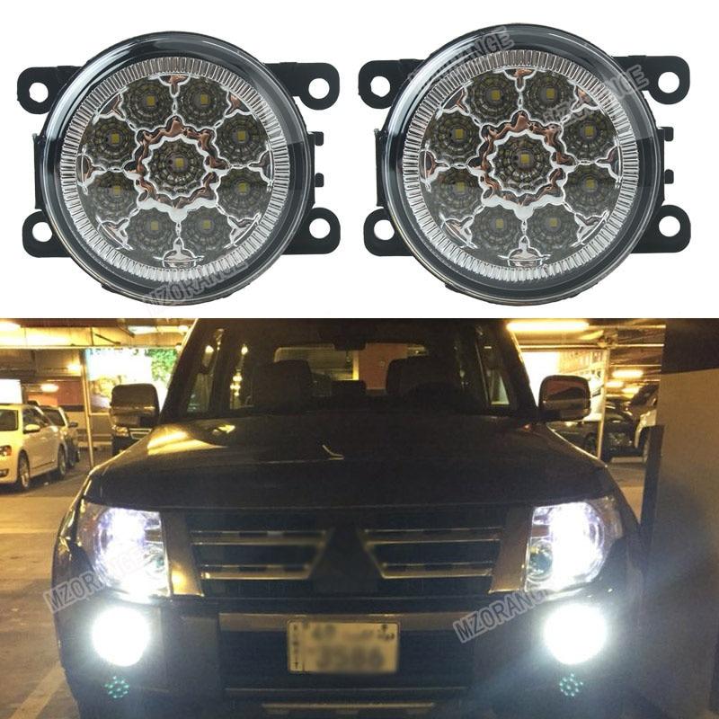 Voiture-style 6000 K 12 V DRL Brouillard Lampes Éclairage LED Lumières 9 W/1 SET Pour Mitsubishi L200 OUTLANDER 2 PAJERO 4 GALANT Grandis