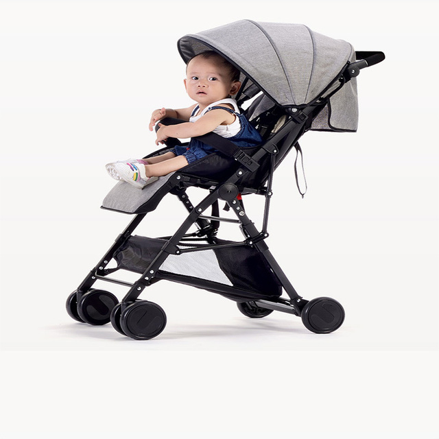 Baby strollers can be ultra-light portable portable sitting foldable landscape baby baby carriage BB baby push umbrella