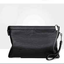 Fashion luxury Brand Zipper Men Wallets with Phone Bag Leather Clutch Wallet Large Capacity Casual Long Business Mens