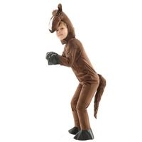 Kids Animals Horse Pajamas Classic Brown Horse Costume Jumpsuit Child Halloween Children's Day Gift Age of 3 7