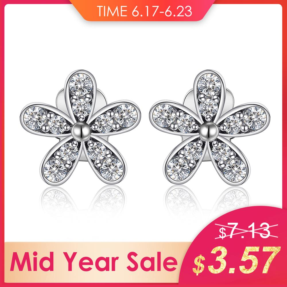 b07864ab99e4b Jewelrypalace 925 Sterling Silver Earrings Stud Earrings Cubic Zirconia  Unique Design Fashion Jewelry Dazzling Daisy Gifts