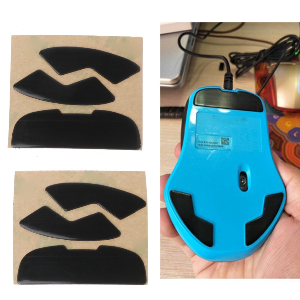2Pcs 0.6mm Thickness Replace Mouse Feet Mouse Skates For Logitech G300 G300S