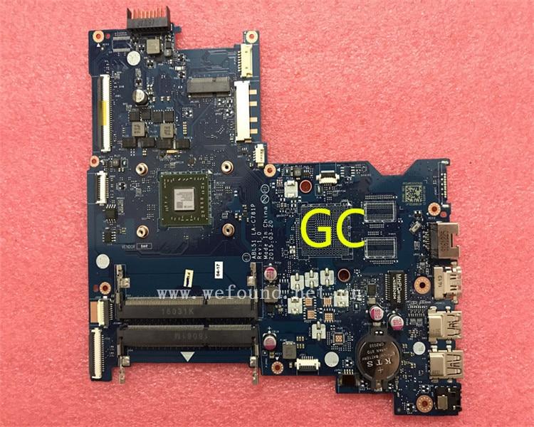 laptop Motherboard For 15Z-AF 15-AF LA-C781P 813966-501 813966-001 system mainboard Fully Tested nokotion 814611 001 818074 001 for hp 15 af series laptop motherboard abl51 la c781p cpu onboard mainboard full test