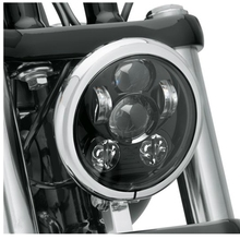 5.75″ 5-3/4″ Motorcycle Projector 45W Osra-m LED Lamp Headlight For Harley Sportster,  Iron 883,  Dyna, Street Bob FXDB