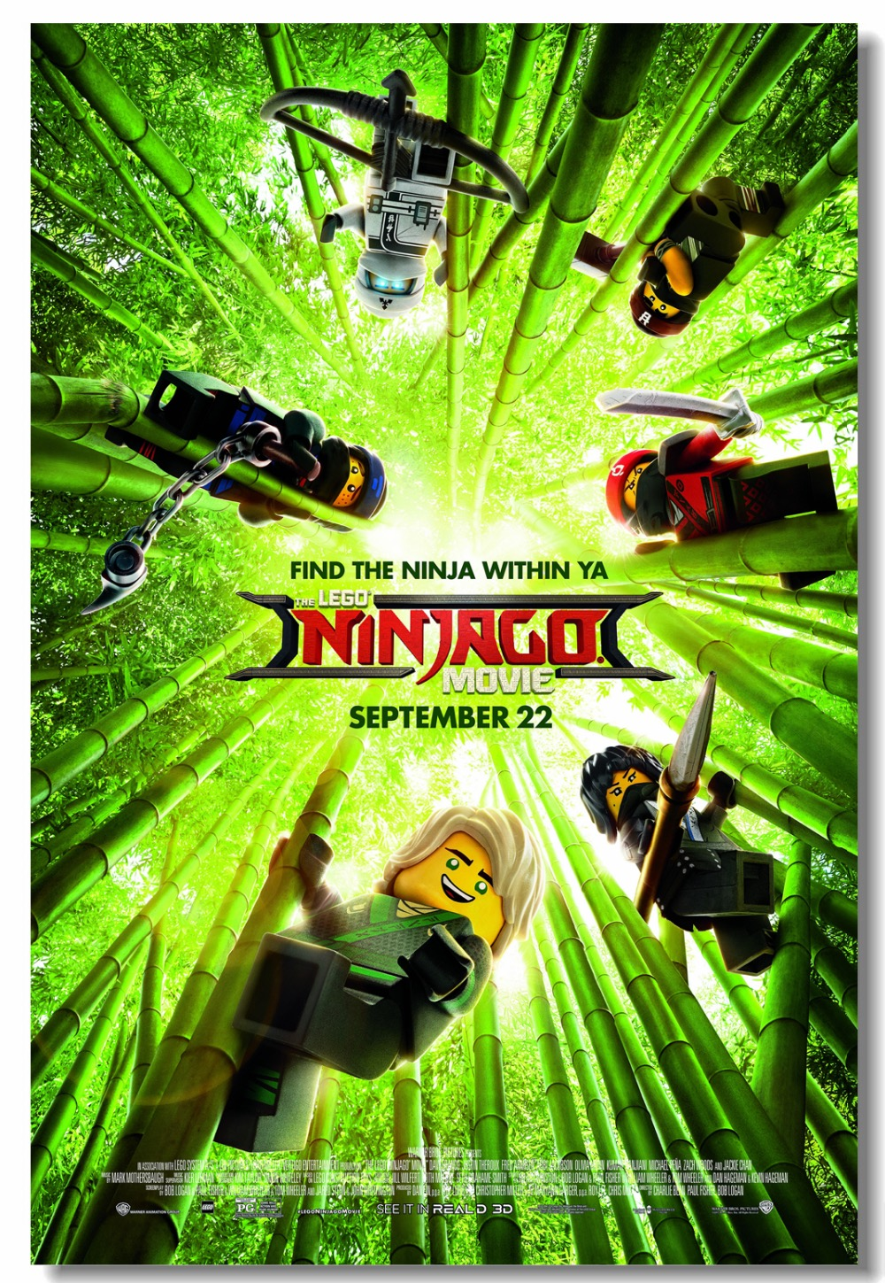 Custom Canvas Wall Mural The Lego Ninjago Movie Poster Video Game Wall Stickers Lloyd Jay
