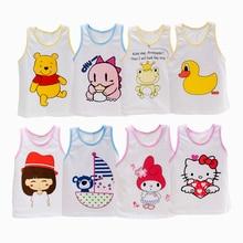 Фотография Baby Girls Sleeveless Clothes Kids Cartoon Hearts T-Shirt Tops Cotton Tanks Vests For 0-3 Y Children Girl Girls Top Baby Costume