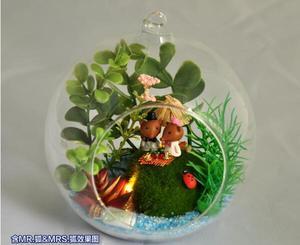 Diy casa de muñecas miniatura con muebles Mini Kit de modelo de bola de vidrio hecho a mano casa de muñecas juguete cumpleaños regalos-isla de la suerte de Ángel