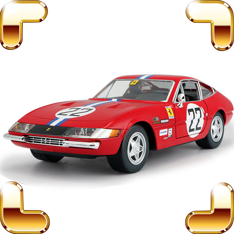 Collection Gift For Car Fans 365GTB4 1:24 Model Metal Cars Vehicle Alloy Static Decoration Toys Collectible Metallic Models maisto jeep wrangler rubicon fire engine 1 18 scale alloy model metal diecast car toys high quality collection kids toys gift