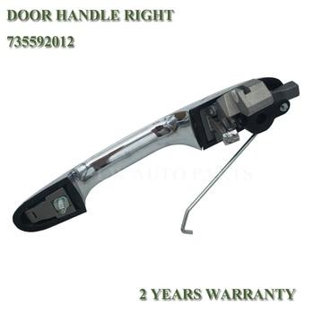 Prawo kierowcy Side klamka do drzwi na Fiat 500 Chrome zewnętrzna zewnętrzne klamka do drzwi s 735592012 735485876
