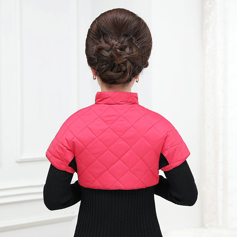 Woman Puffer Shoulder Padded Vest Winter Autumn Women Quilted Shoulder Pad Waistcoats Female Stand Collar Wadded Weskit Womens Belero Vest (4)