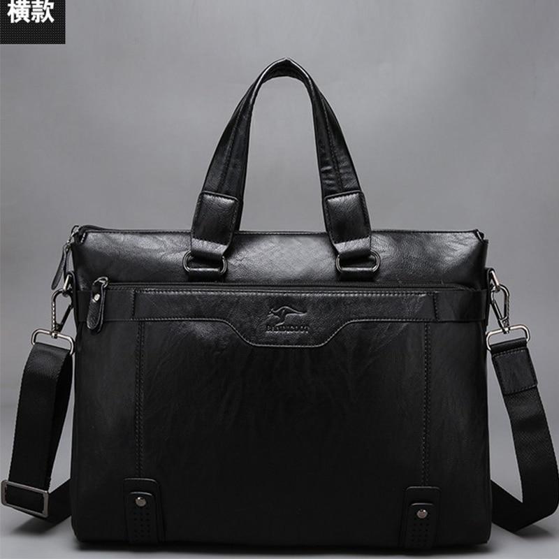 Business New Fashion Genuine Cow Leather Men Bag Brand Shoulder Bag Messenger Bags Causal Handbag Laptop Briefcase Male Free Bag