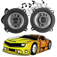 1 Pair 5 inch 450W Car Coaxial Treble Tweeter Speakers Vehicle Door Auto Audio Music Stereo Loudspeaker Audio Auto Loud Speaker