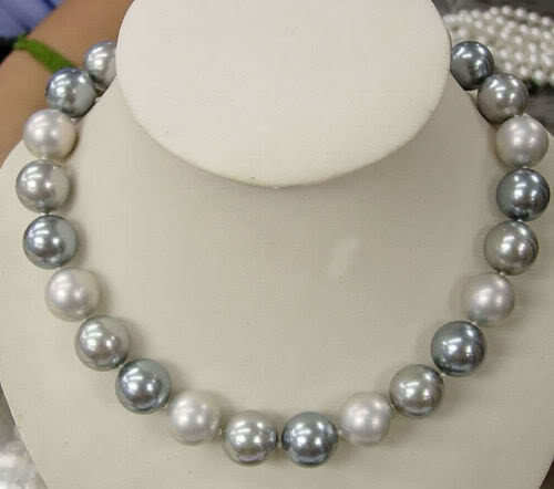 Wholesale price 16new  10mm multicolor south sea shell pearl necklace 17 AAA E19