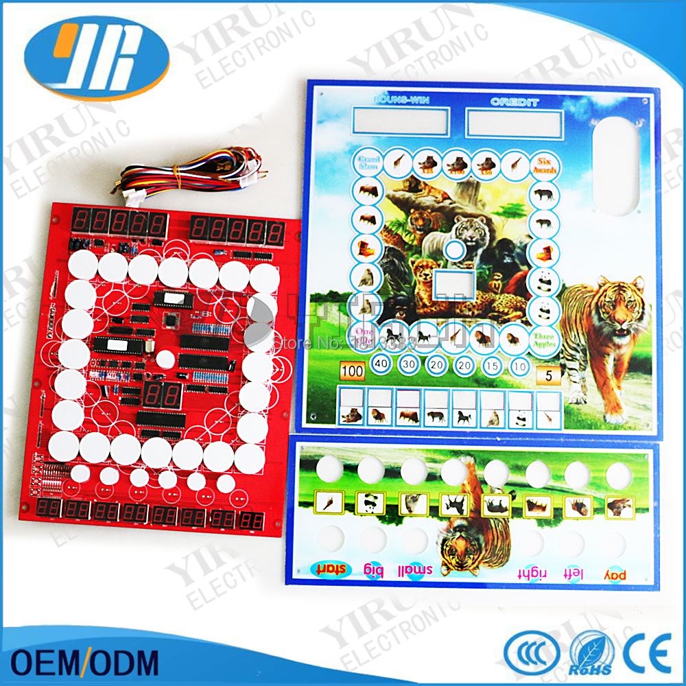 Animal Mario Game Board Casino Slot PCB Mario Motherboard With Acrylic C