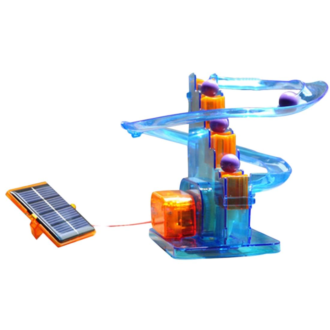 Дети DIY Солнечная Энергия Трек Болл Развивающие Игрушки Фитнес Kid обучения Наука Наборы Обучающие  ★