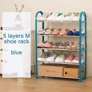 Image 4 - Современный модный органайзер для домашней обуви, простой шкаф для обуви, свободная сборка, складная мебель, универсальная полка для обуви