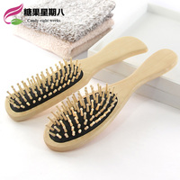 Portable Gasbag Massage Wooden Air Cushion Alopecia Hairdressing Defence Electricity Curly Hair Comb Mini Postal