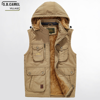 Men S Hoodies Winter Jackets Thick Warm Vest Sleeveless Jacket Plus Big Size Waistcoat Fashion 5XL