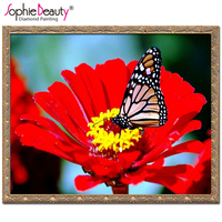 Products For Crafts Diy Diamond Embroidery Flower Painting Rhinestones Butterfly Diamond Mosaic Kit 3D Picture Of
