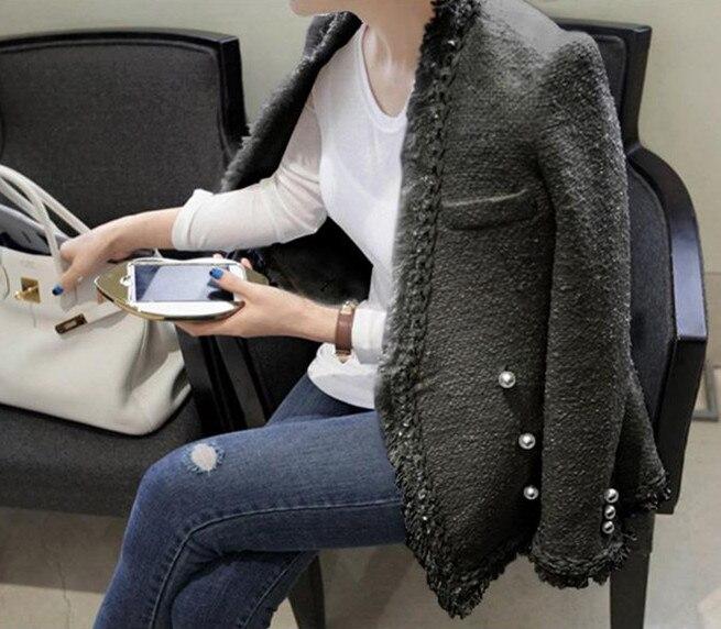 Donne Nappa Nero A 2018 Maniche Di Alta Bianco Del bianco Lunghe Qualità Progettista Cappotto Tweed Autunno Il Doppiopetto Giacca Hamaliel Inverno H1Xq6nZ