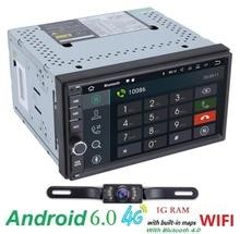 Android 6.0 coches reproductor de dvd de navegación GPS universal x-trail Qashqai x-trail juke nissan 1024*600 gps de radio del coche de vídeo jugador