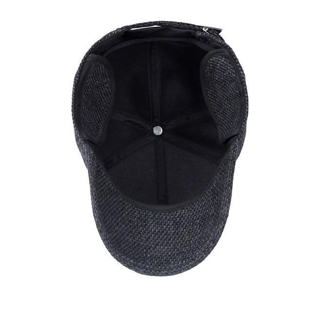 3236dc082ce70 ...  AETRENDS  Woolen Knitted Design Winter Baseball Cap Men Thicken Warm  Hats with Earflaps Z ...