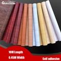 Великая стена Водонепроницаемый наклейки ткани рулон обоев мебель wood grain бумага самоклеющаяся пленка шкаф двери наклейки