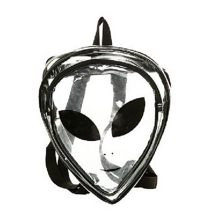 Mochila Divertida Transparente Alien,Mochila escolar divertida