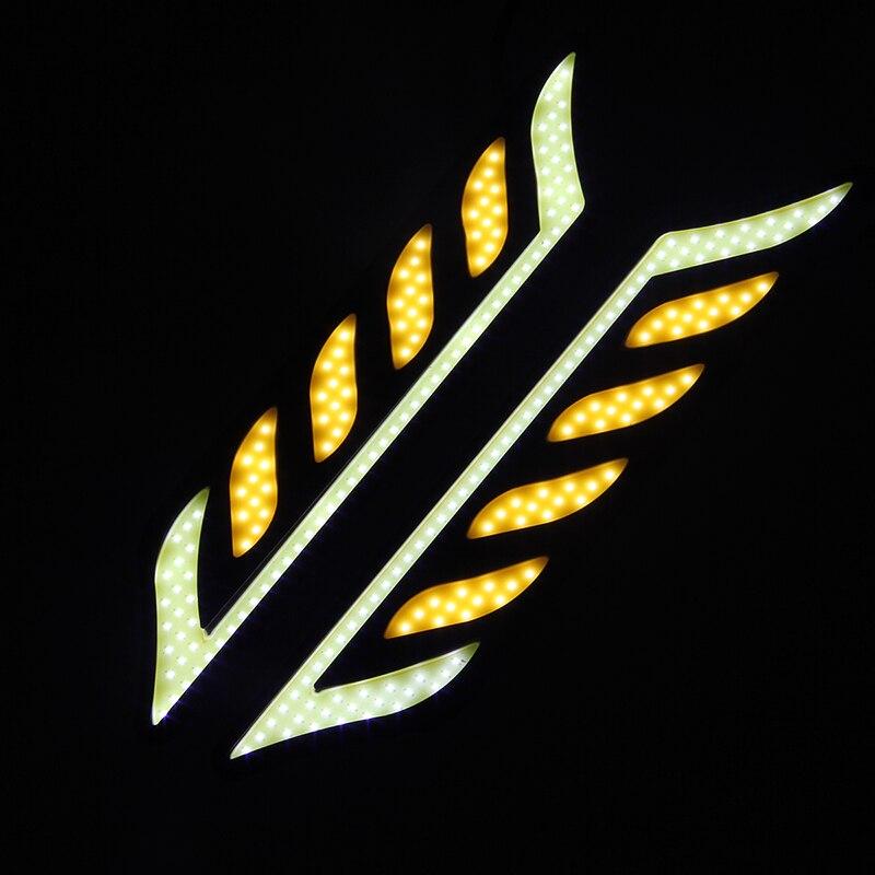 1 Pair COB Universal Car Daytime Running Light DRL Fog Driving Lamp LED Headlight 12V White Turn Signal Lights  1 pair c9 h1 chip cob led beam 72w 6000k white replacement daytime running lights drl fog headlight driving bulb car light sourc