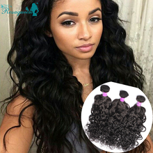 Curly Weave Human Hair Extension 3 Bundle Deals Burmese Virgin Hair Water Wave Rosa Queen Hair Products Human Hair Weave