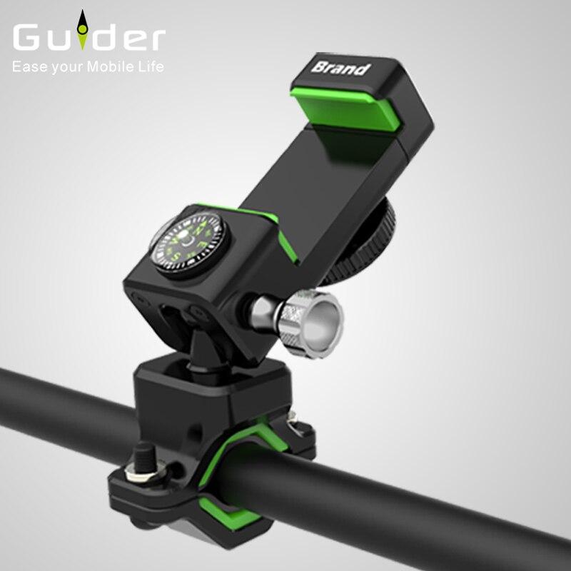 Universal Bike eBike motocicleta manillar sostenedor del teléfono móvil montaje de la bicicleta soporte con luz LED brújula