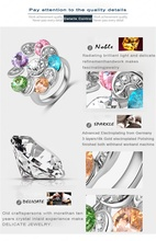 Twinkling Multi-colour Crystal Flower Ring